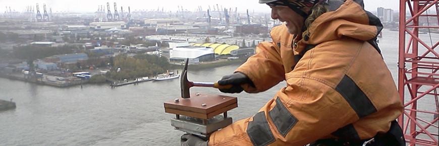 Montage von Personensicherungseinrichtungen Elbphilharmonie Hamburg