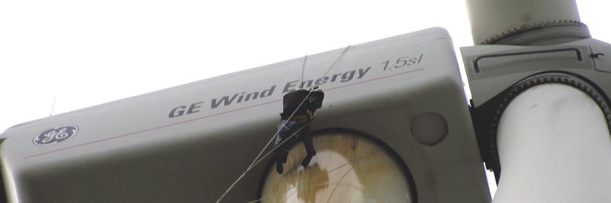 Reparatur- und Reinigungsarbeiten Windkraftanlagen